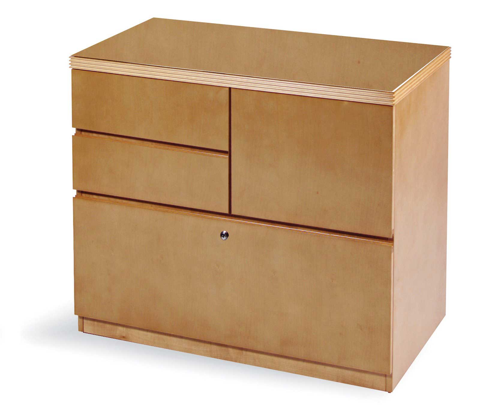 wooden discount filing cabinet with lock