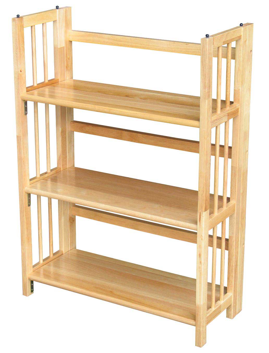 3 Tier Shelf natural mission folding bookcase