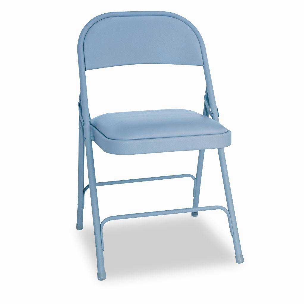 Alera Gray Seat Steel Stacking Chair