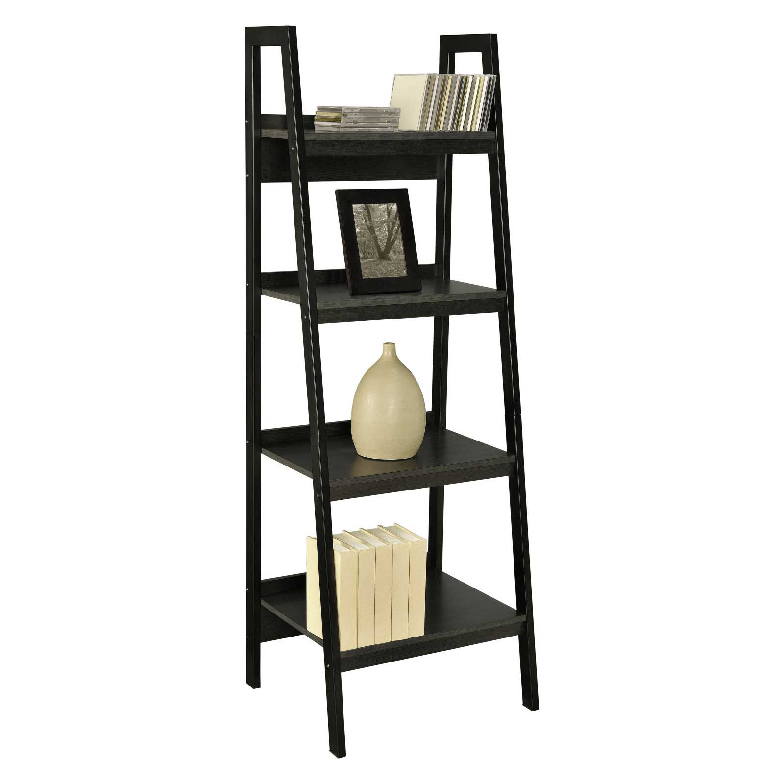 Ameriwood Leaning Steel Ladder Bookcase