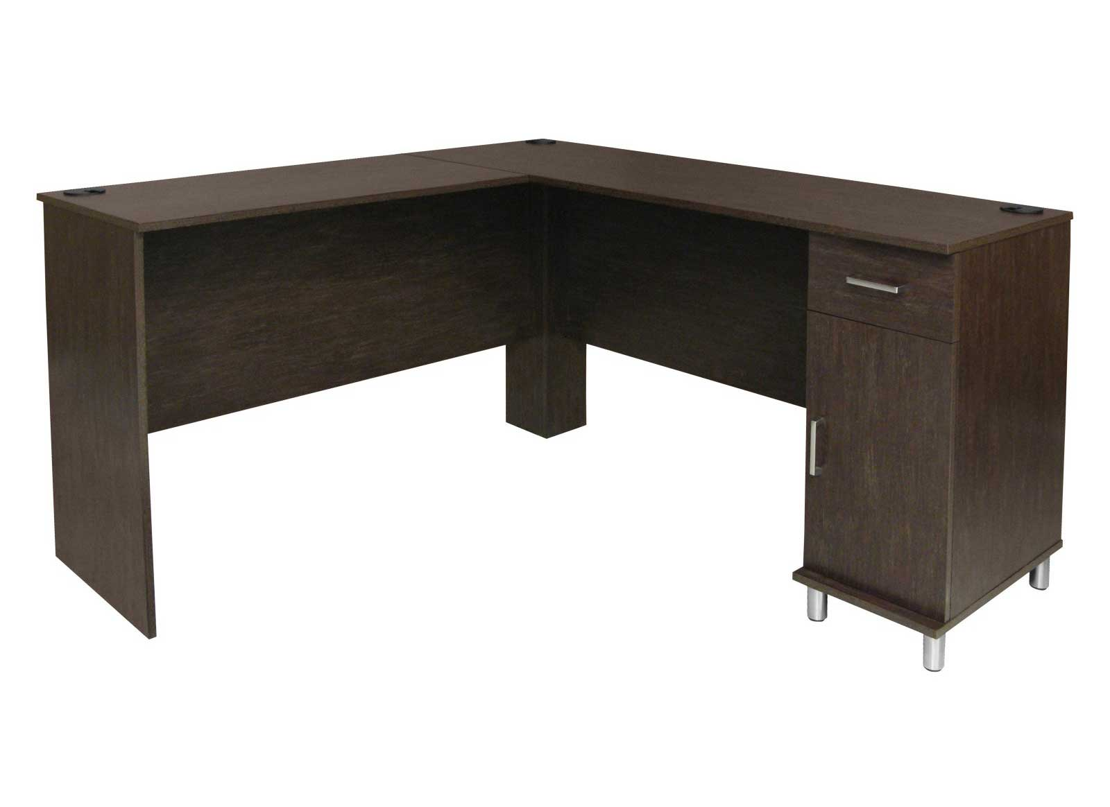 Ameriwood contemporary corner desk with storage