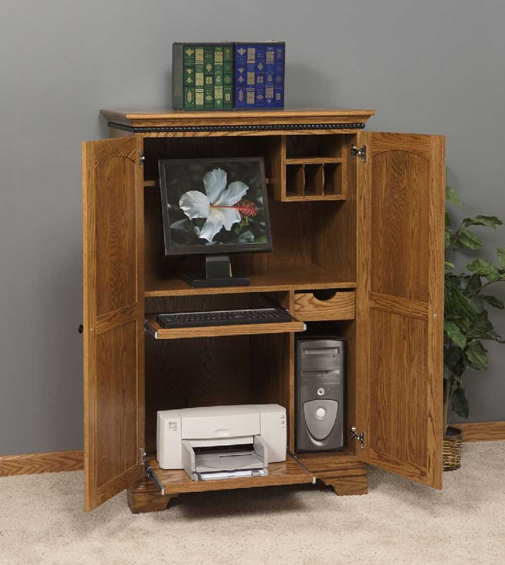 Image of: Corner Computer Armoire Bright Shadow Online