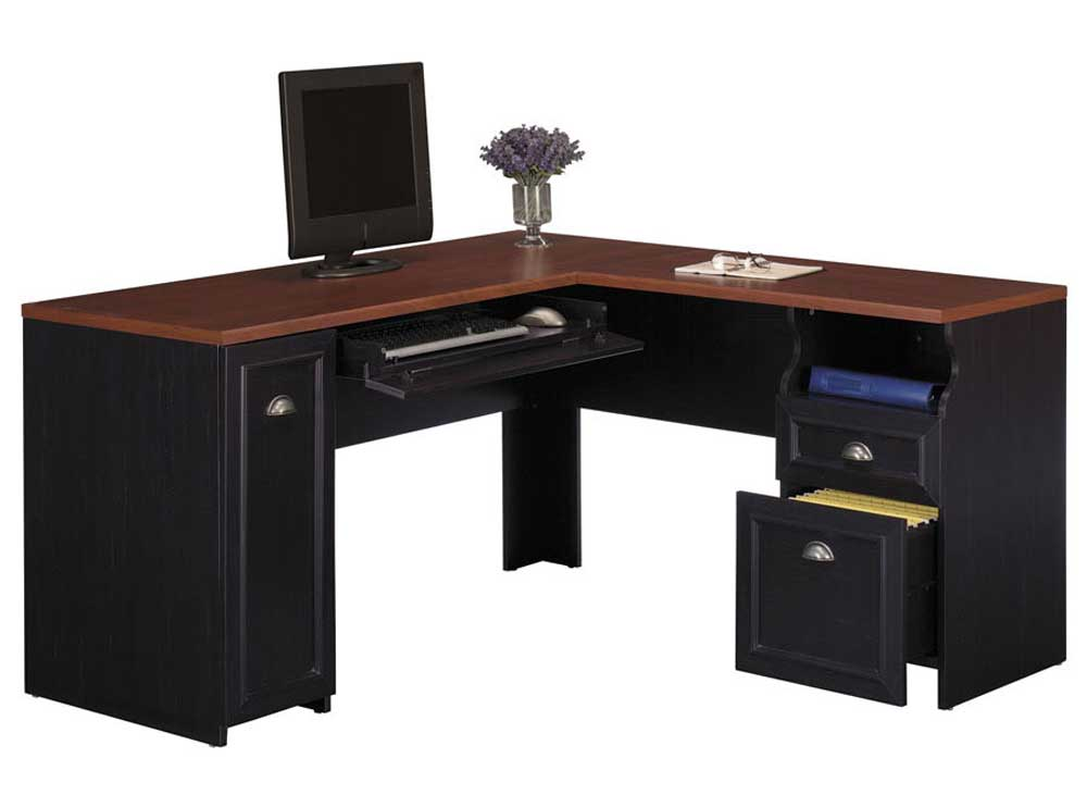 Antique black Bush desk furniture Fairview series