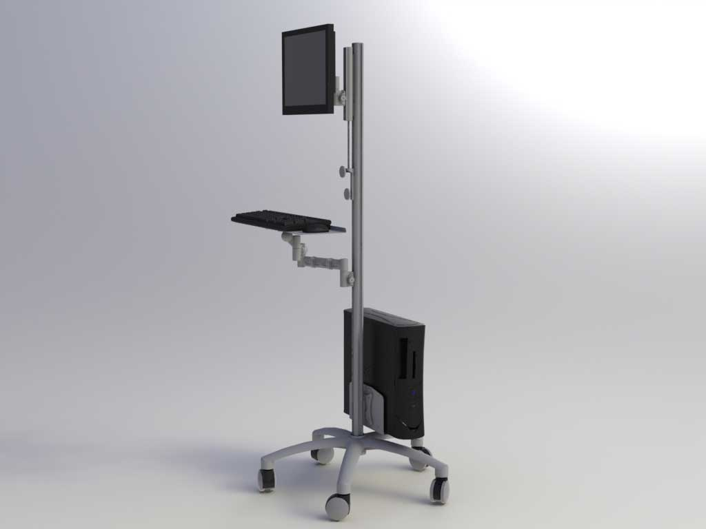 Apollo 4 Adjustable Roll Stand Computer Cart