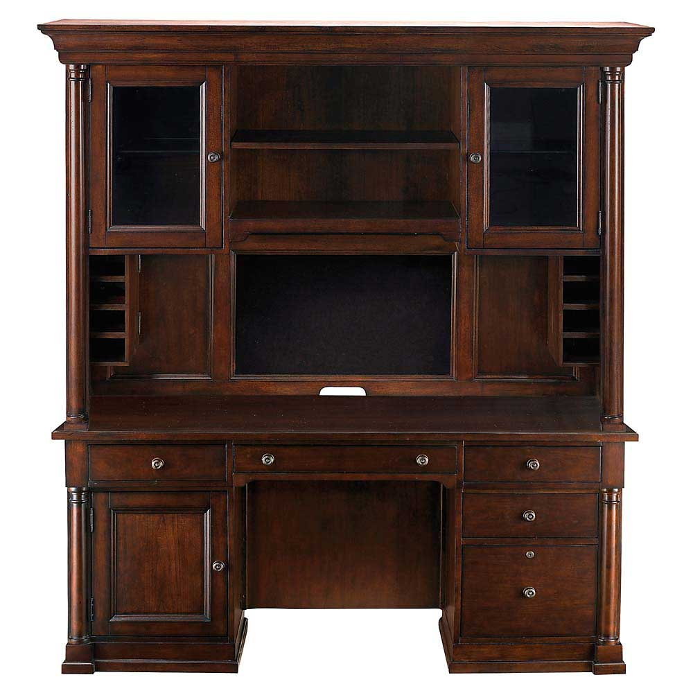 Bassett executive office credenza and hutch