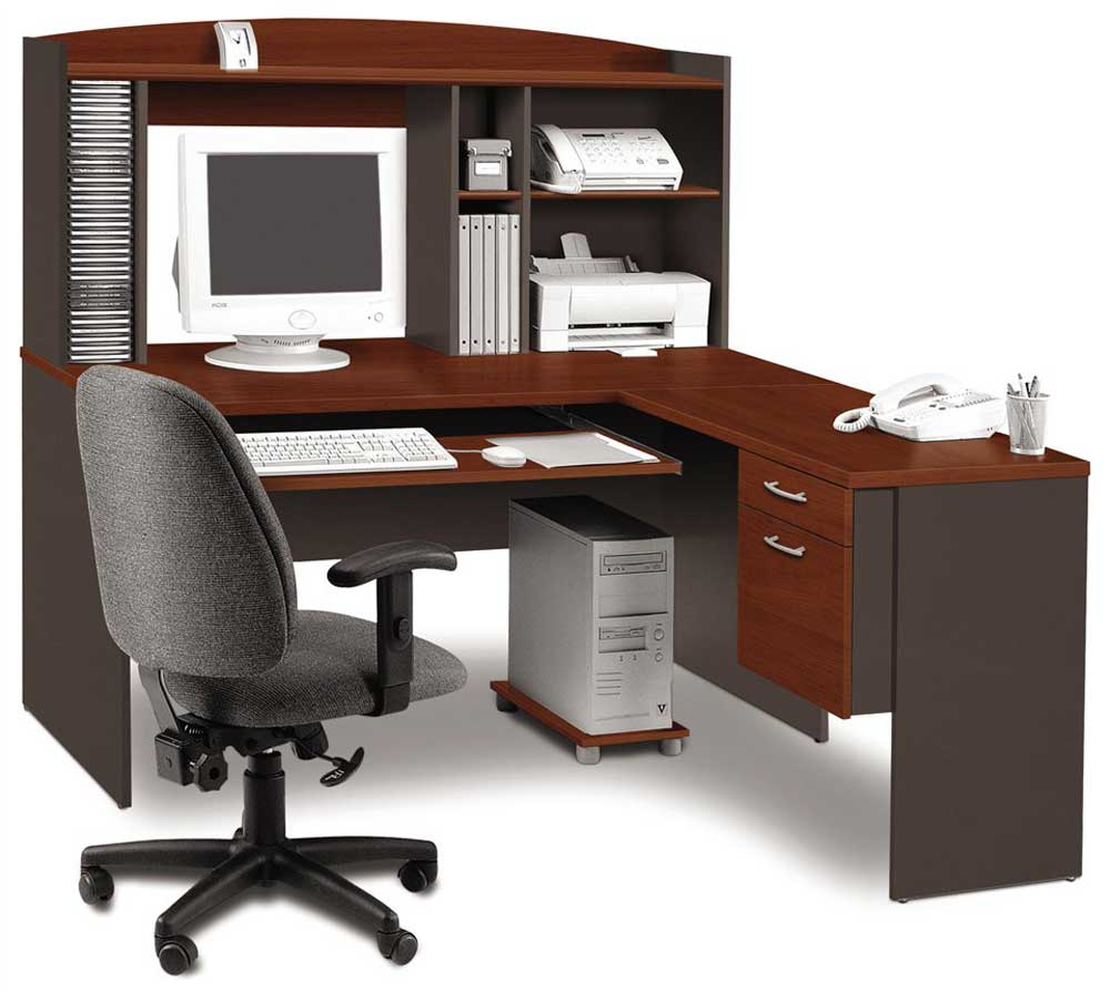 Bestar wooden Bestar L-shaped office desk