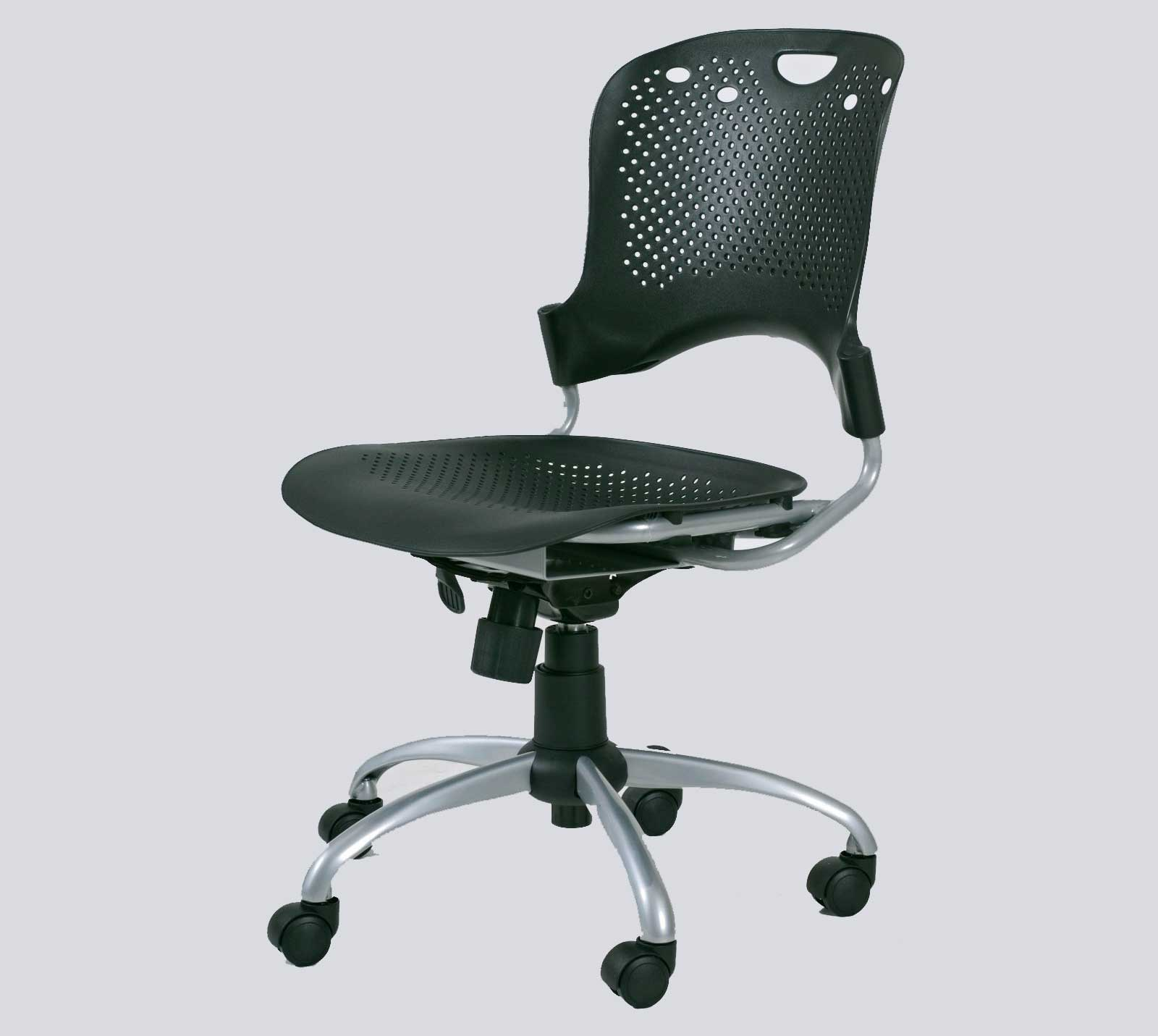 Black Circulation Computer Mesh Task Chair