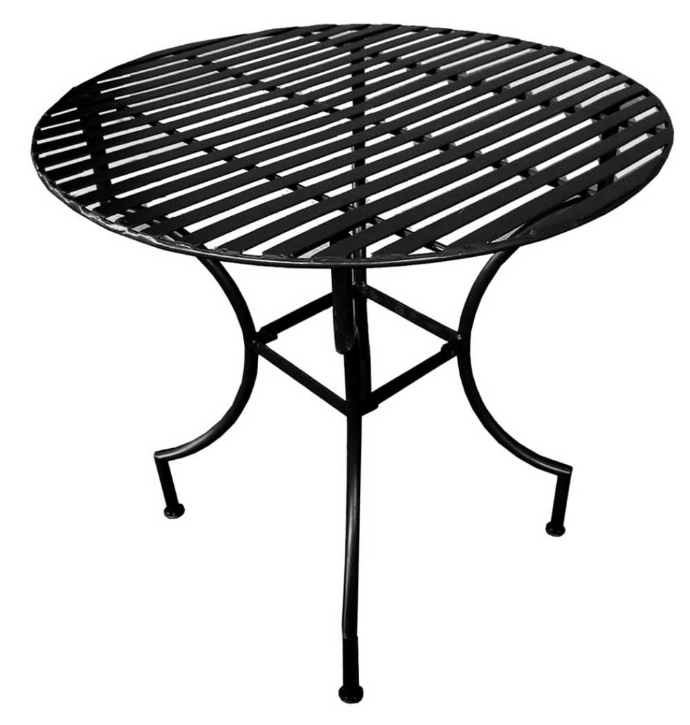 Black Iron Patio Folding Round Outdoor Table
