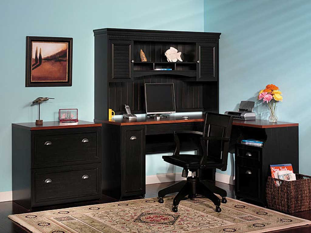 Bush Fairview Antique Black Lateral File Cabinet