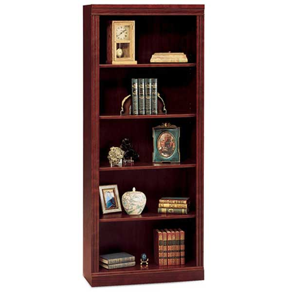 Bush Saratoga Harvest Cherry 5-Shelf Bookcase