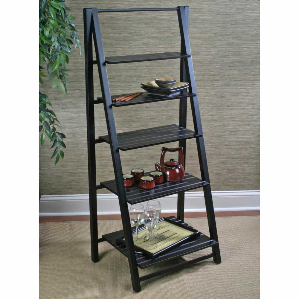 Cape Nantucket Bookcase with 5 Tier Ladder