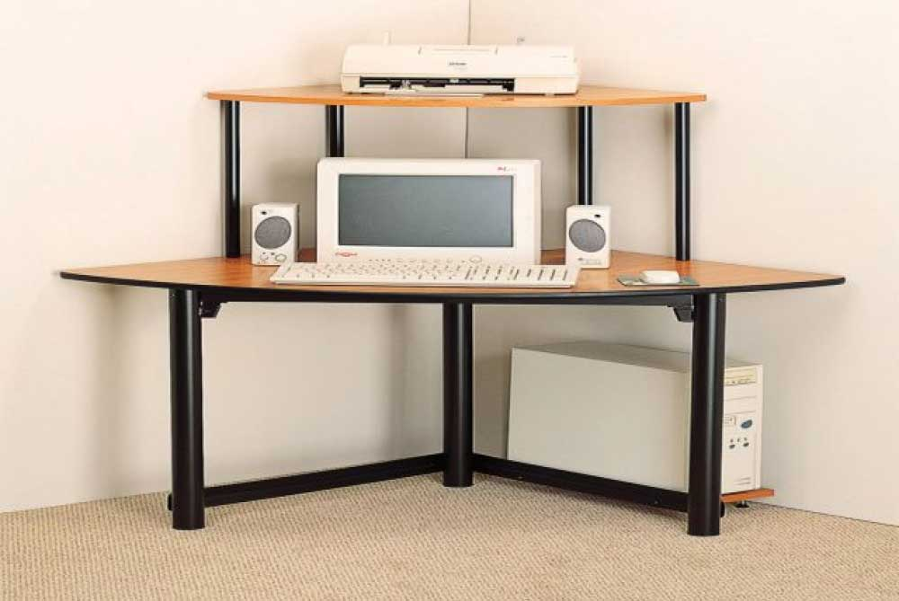 Casual Contemporary Corner Computer Desks Unit