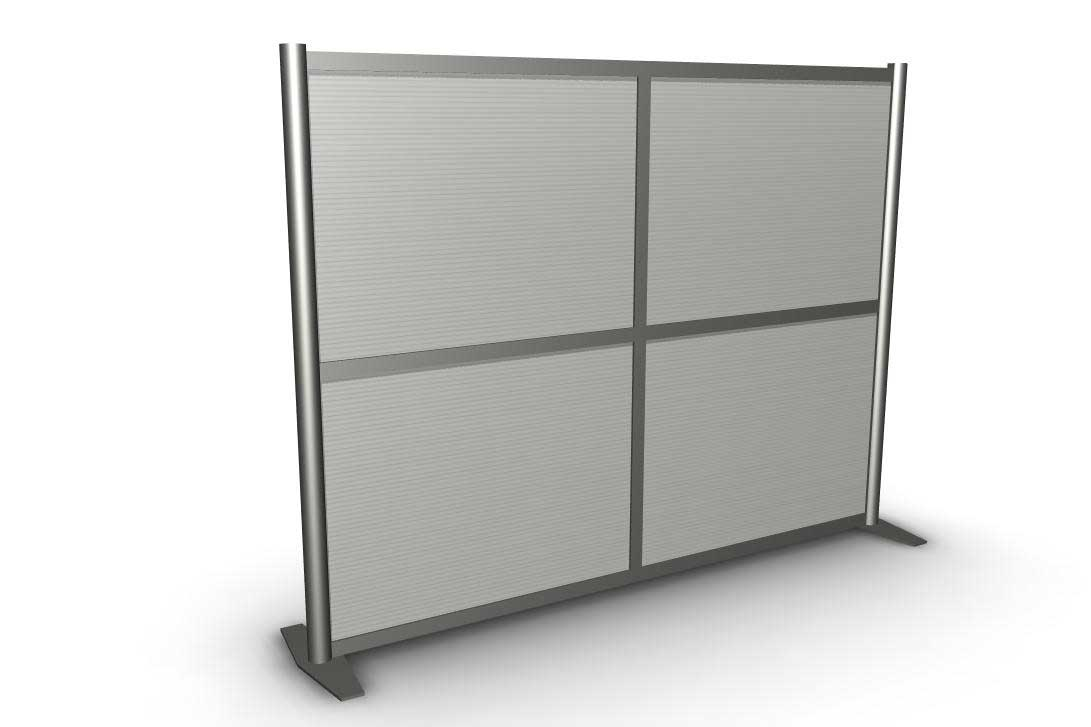Chrome Double Panel Walls Divider Design