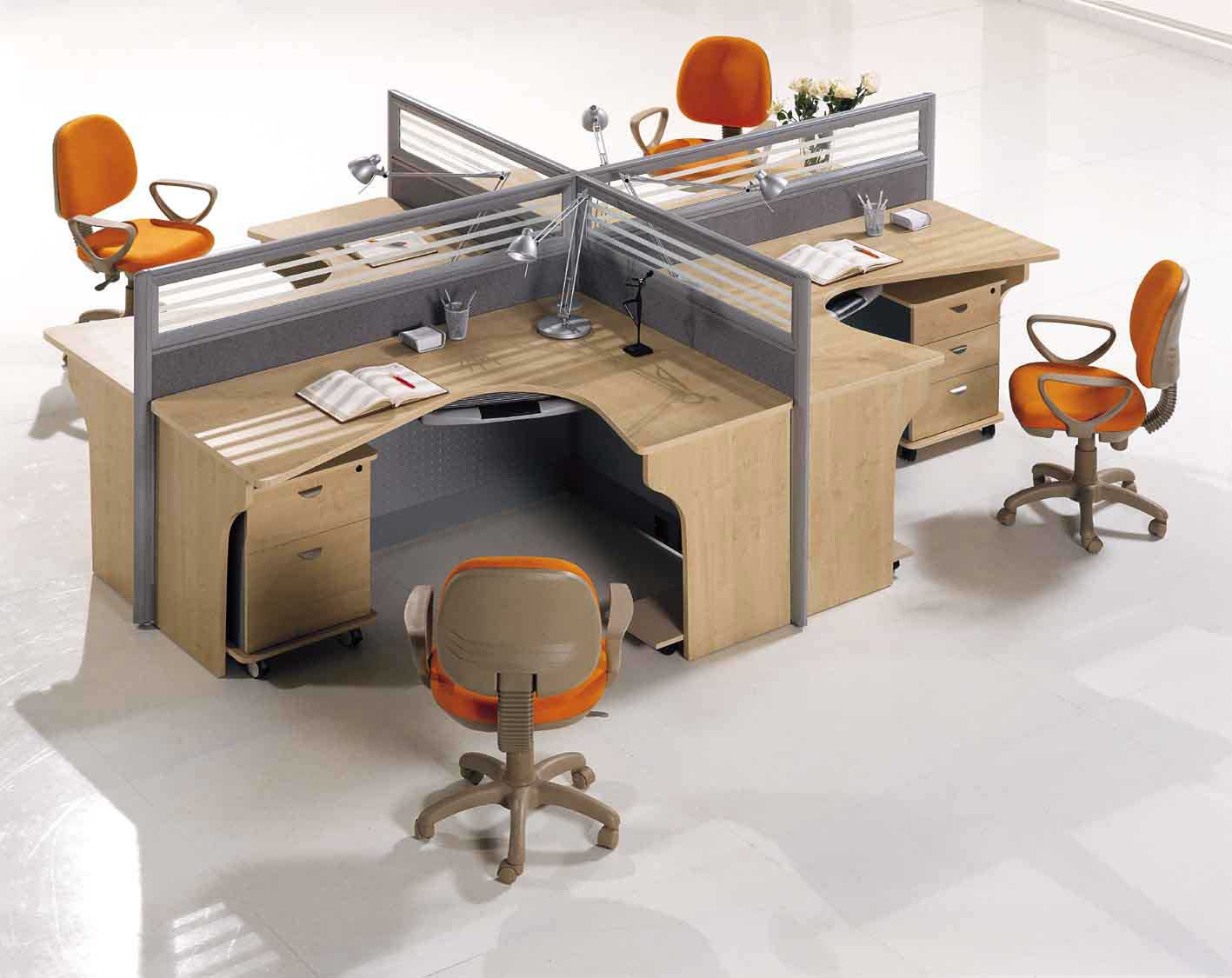 Clean Mobile Office Partitions Design