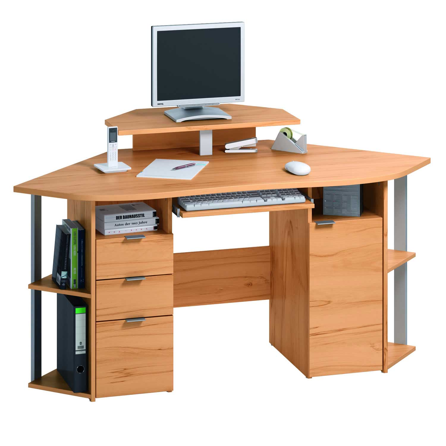 Compact corner desks with space savers design