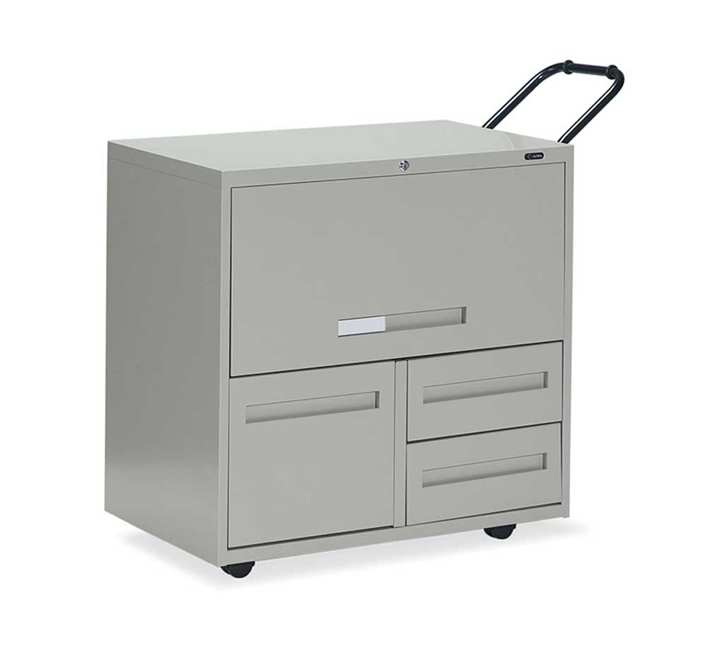 Compact white mobile filing systems