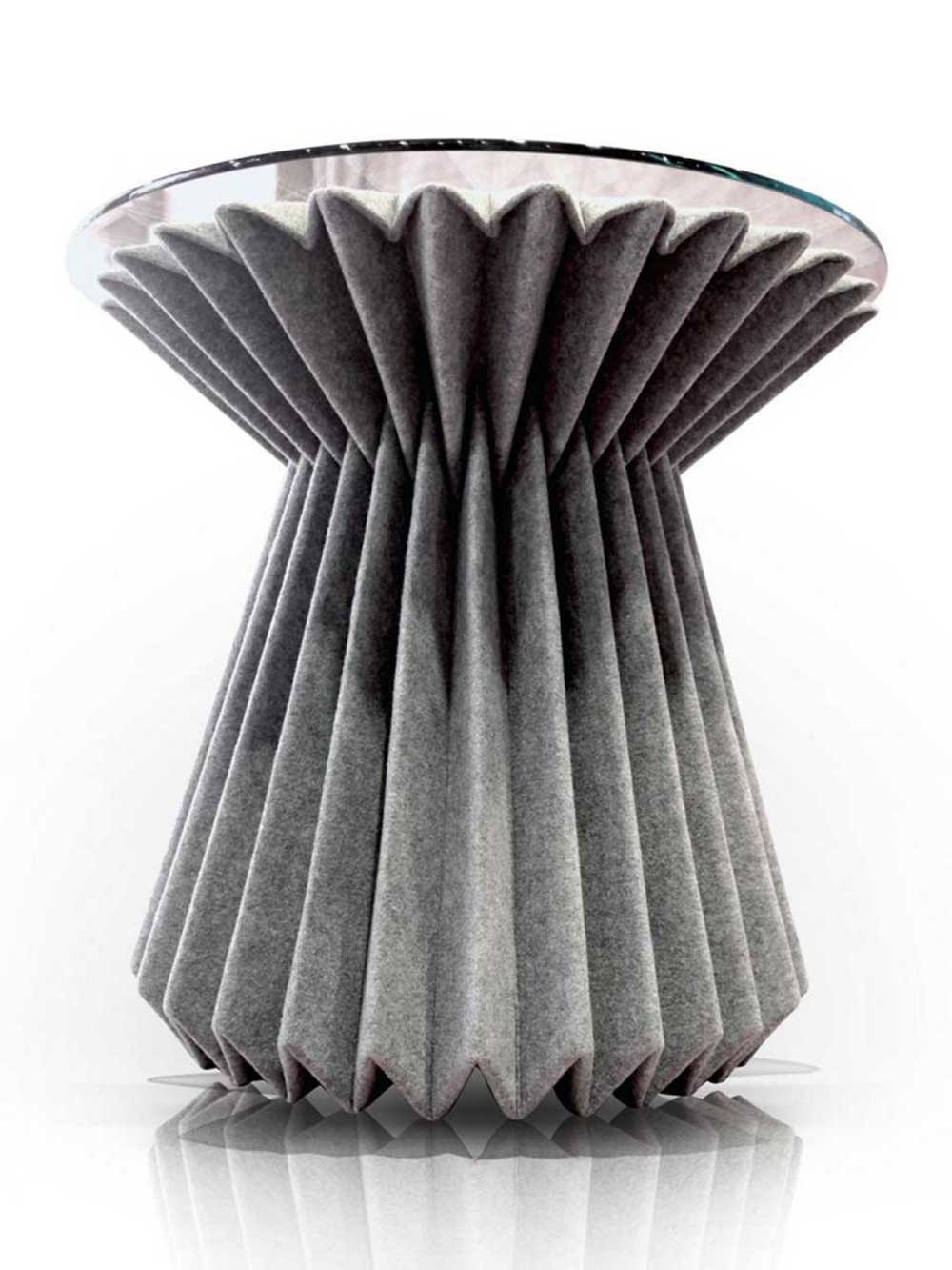Contemporary Glass Top Grey Party Folded Table