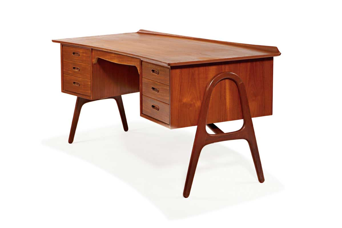Danish cherry adjustable file cabinets and drafting table