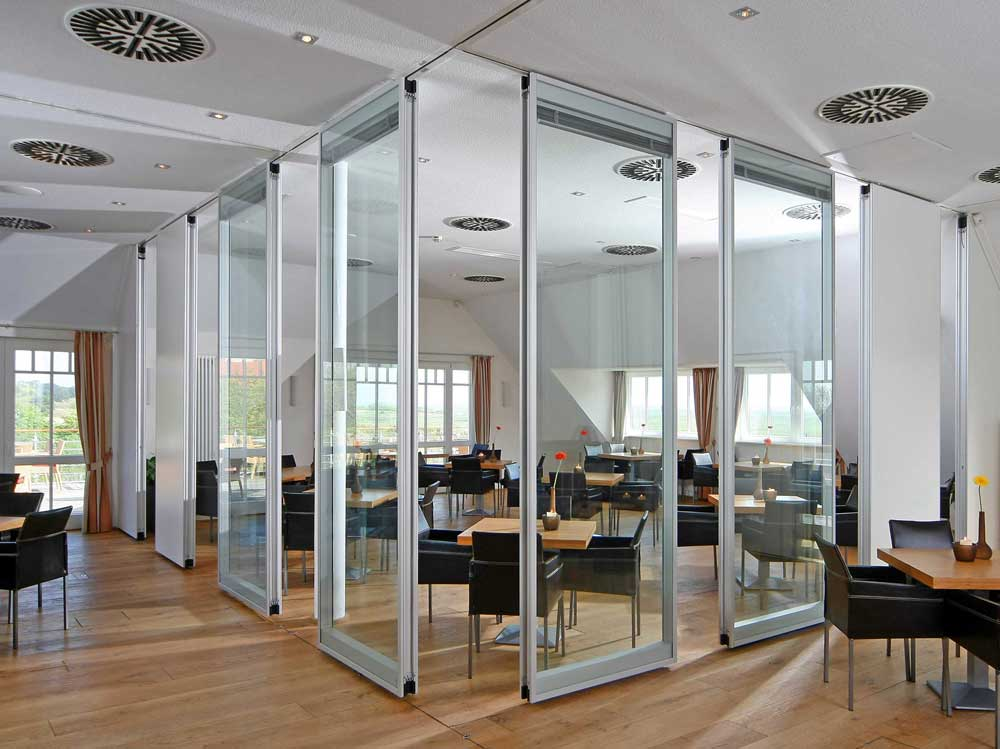Dorma Moveo glass movable wall partitions