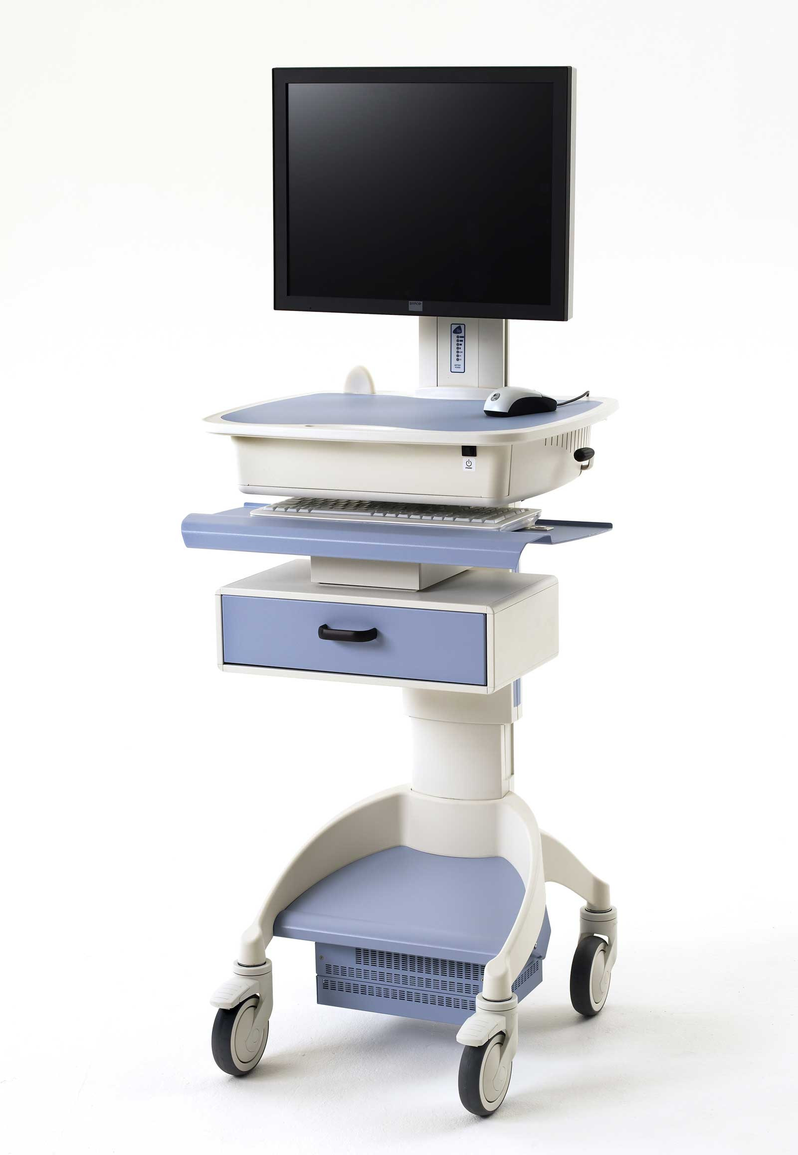 Durable Hospital Laptop Carts