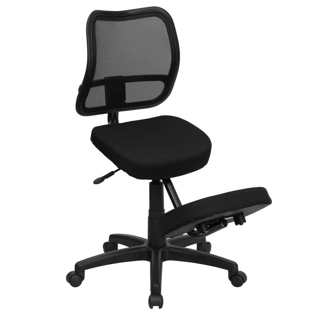 Ergonomic Kneeling Chair with Black Fabric