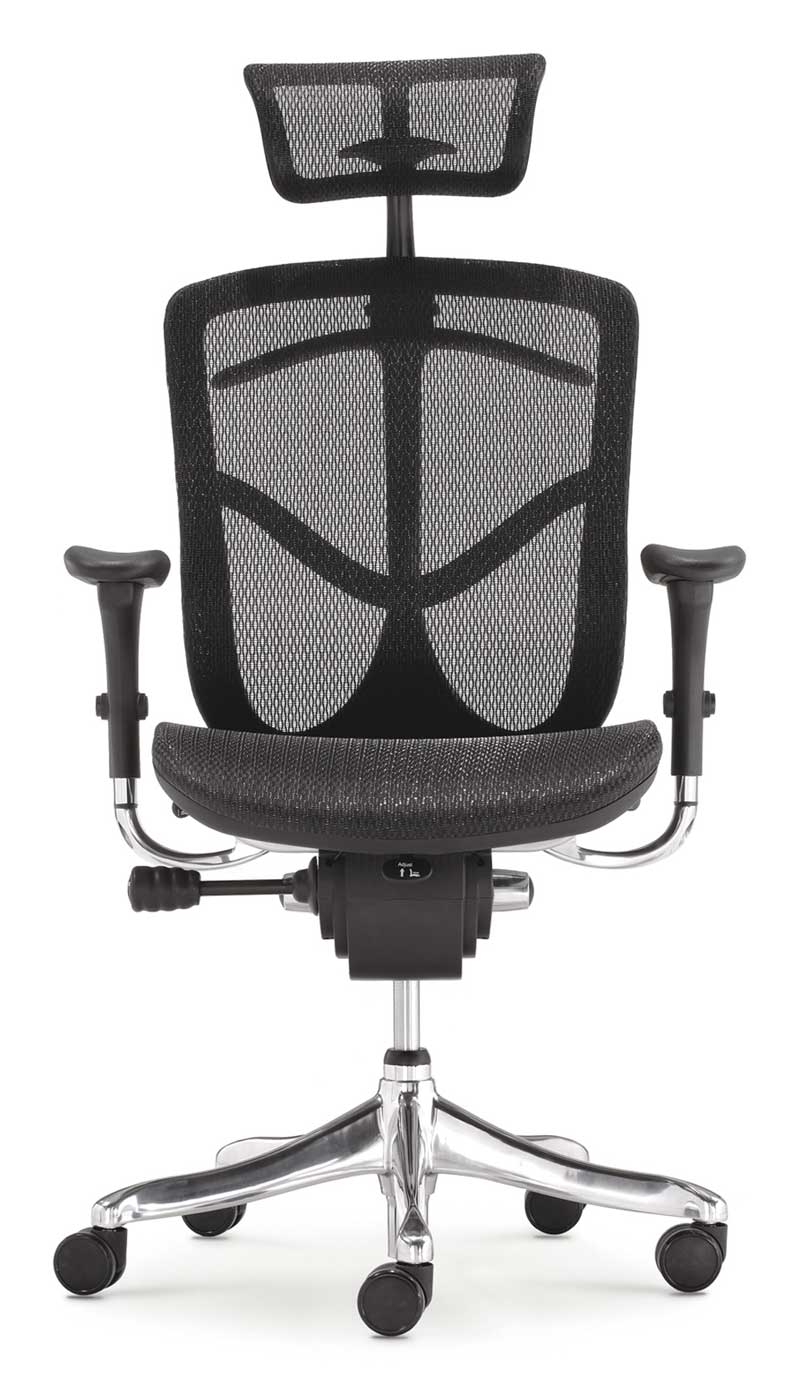 Ergonomic highback and adjustable headrest mesh office chair