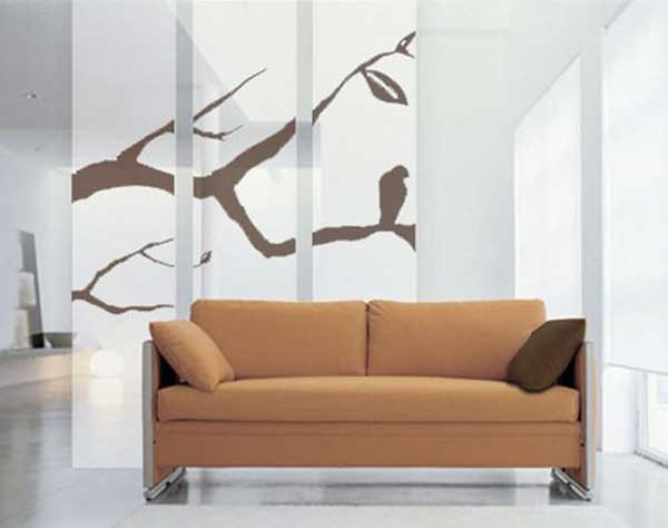 Etsy Room Divider Set with Branches Curtain Design