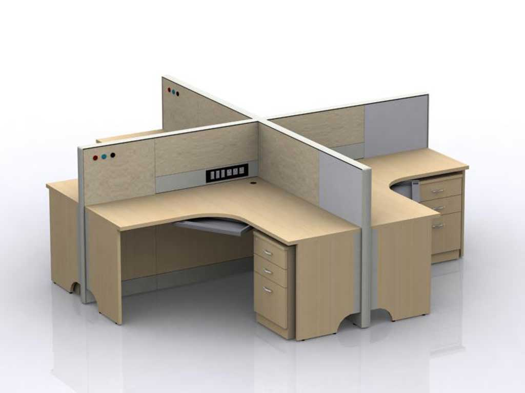 Featherlite Modular Office Desk and Cubicle