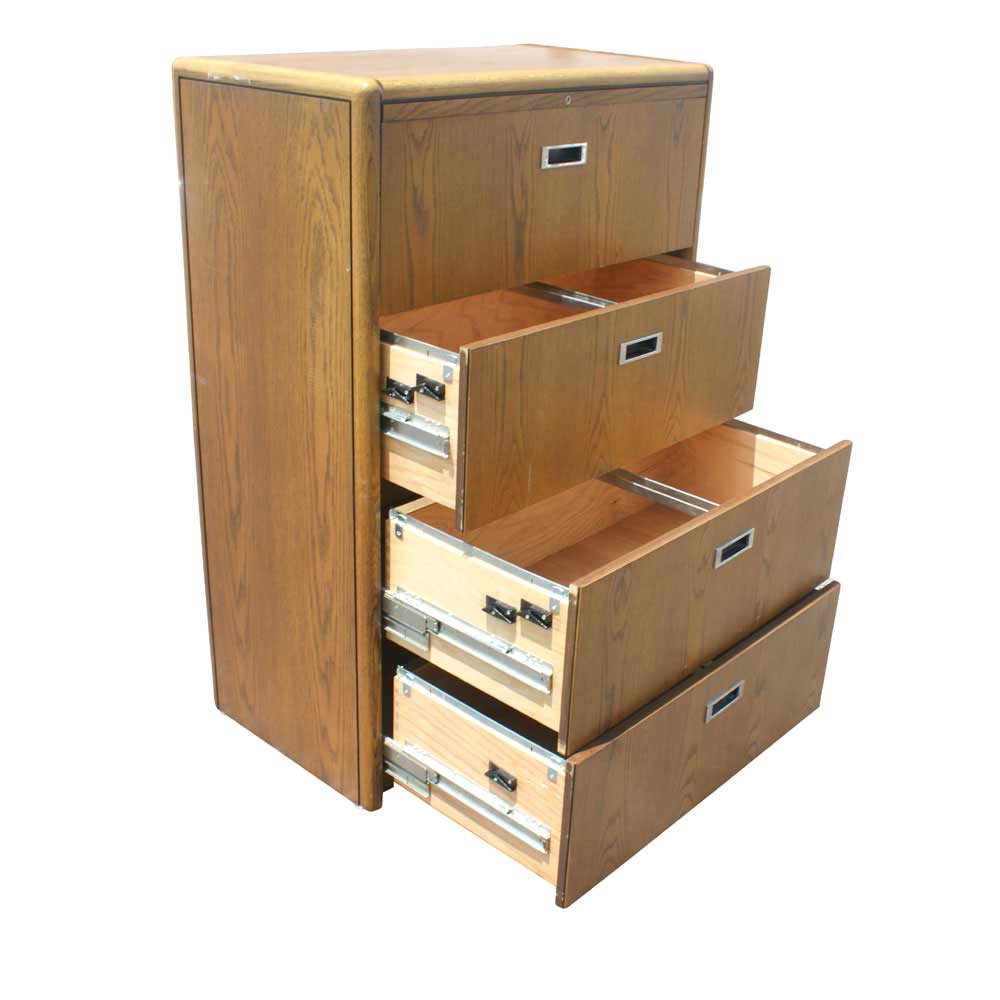 Four Drawers Houston File Cabinets in Wood