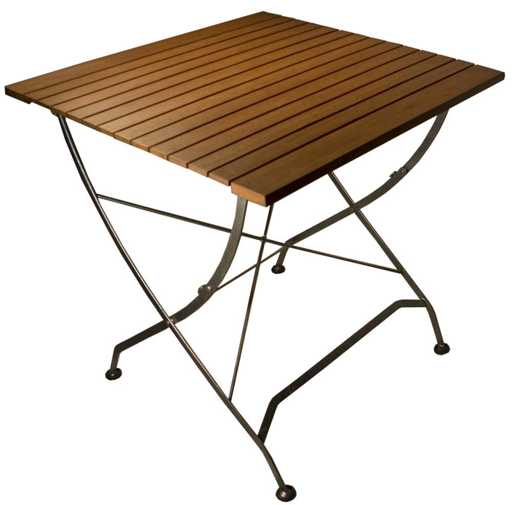 Galleria Wooden Folding Table with Metal Legs