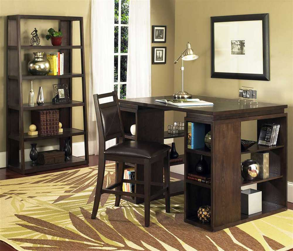 Gavin Counter cherry writing desk chair set