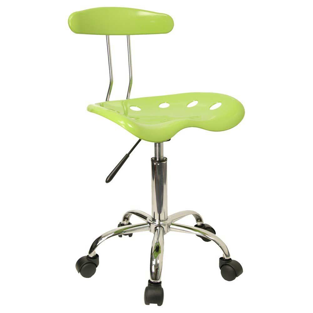 Green and Chrome Tractor Seat Computer Task Chair