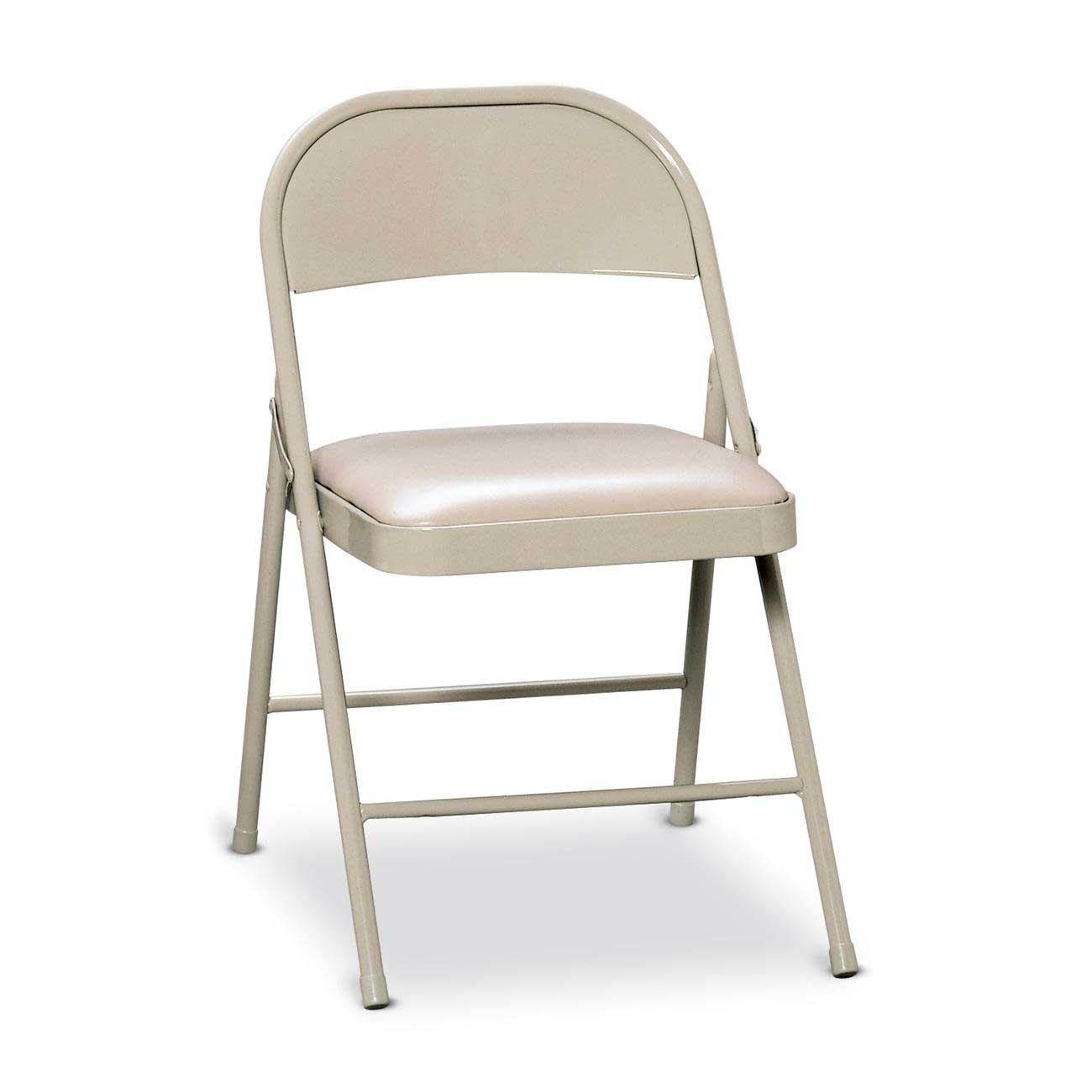 HON white metal folding padded chairs