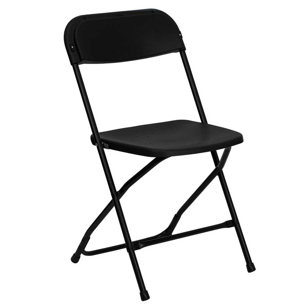 Hercules black lightweight folding chairs