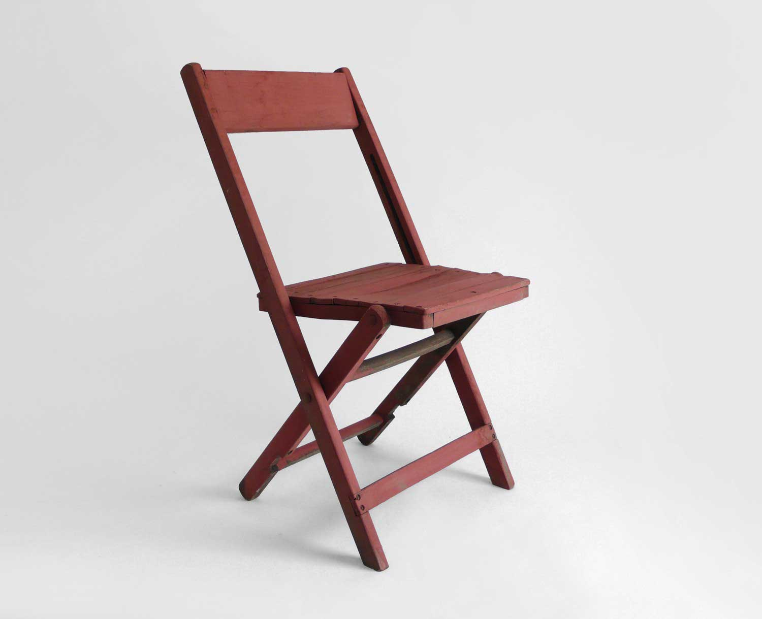 Hindsvik Vintage Wood Folding Rustic Chair