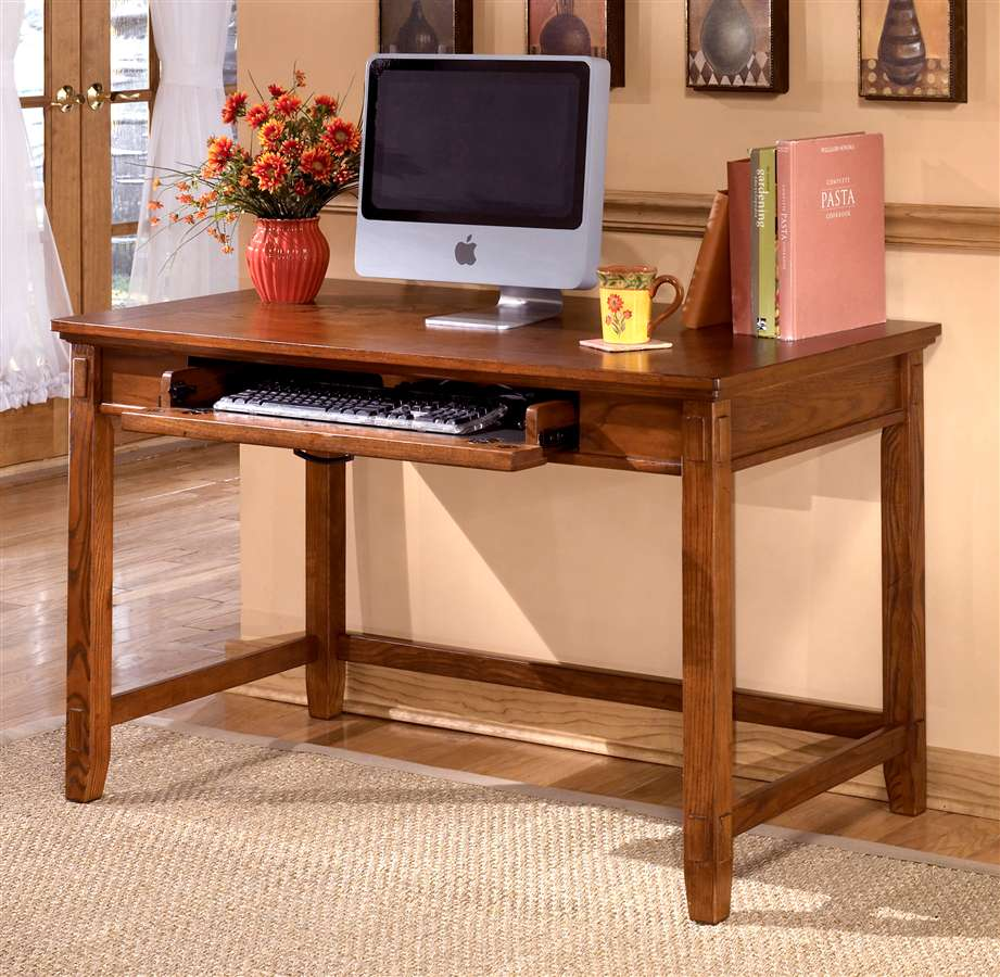 Home Office Wooden Writing Desk with Keyboard Tray