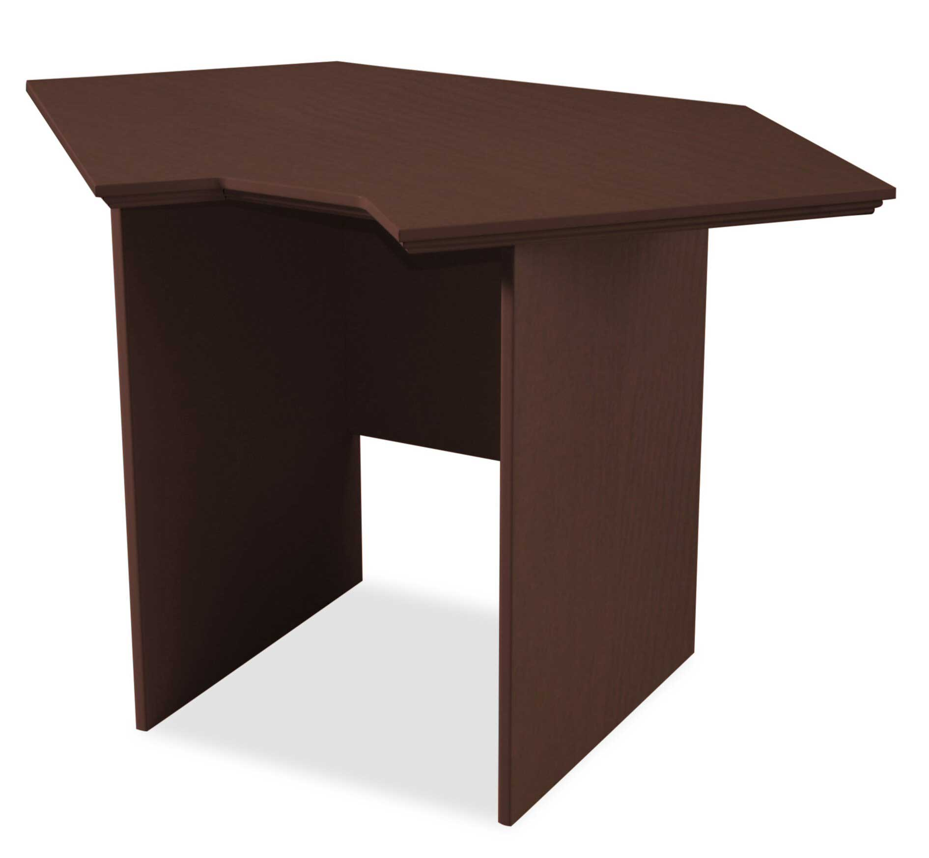 Home office RTA corner studio desk with chocolate finish