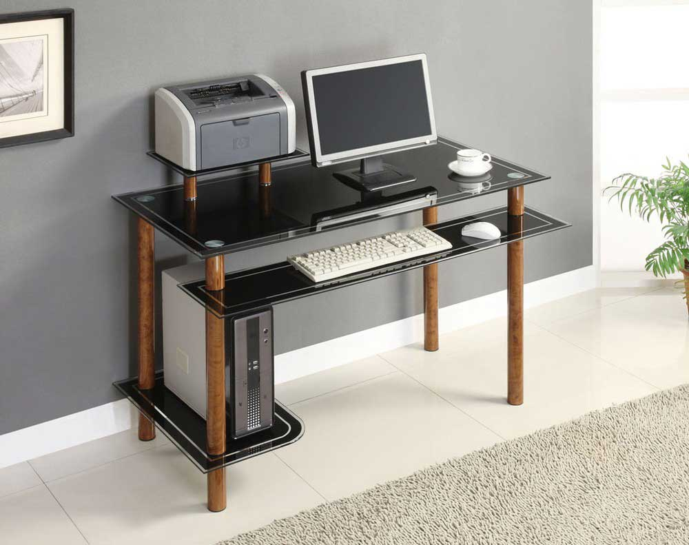 Innovex Bird Eye Tempered Glass Personal Computer Desk