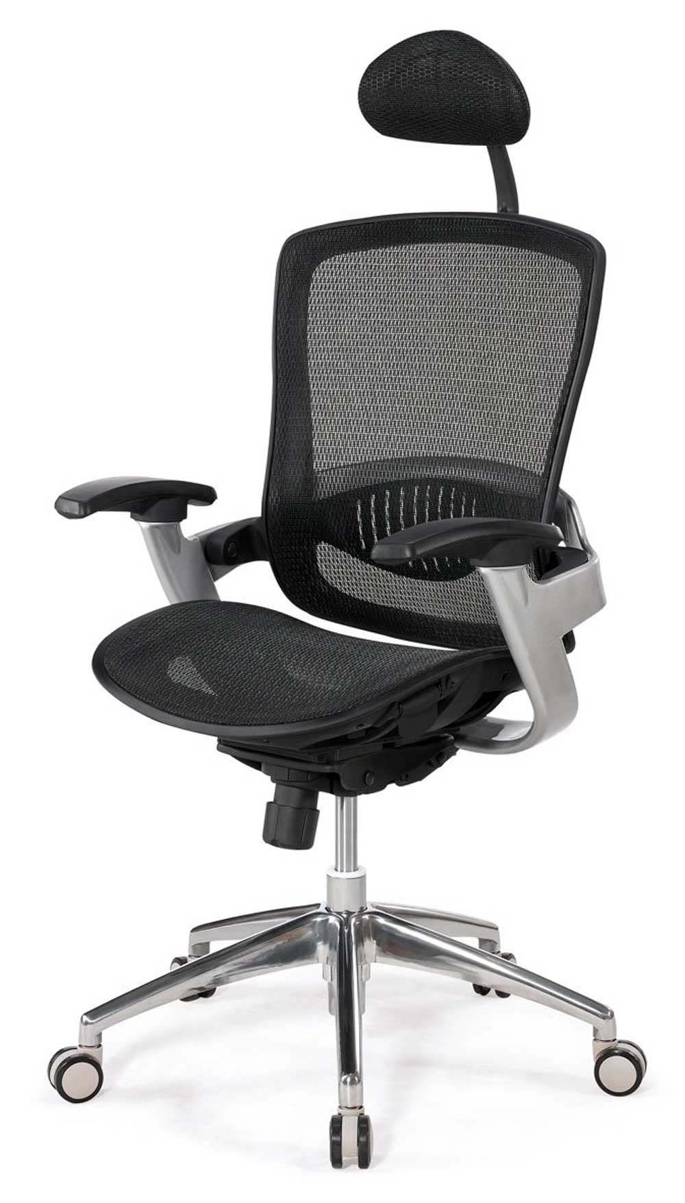 KT mesh foam black rolling office chair