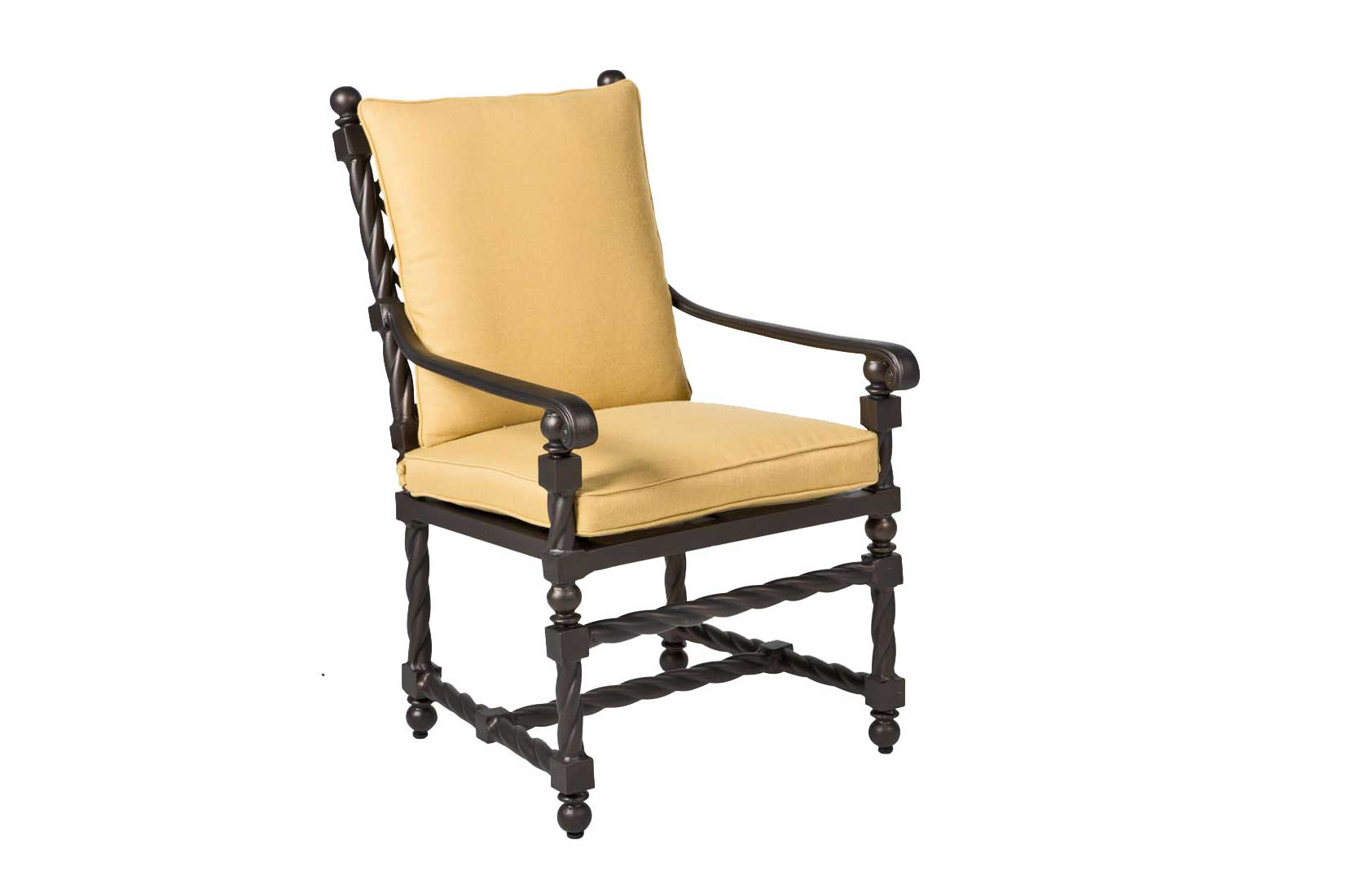 Landgrave Bretain cast aluminum chairs with arms