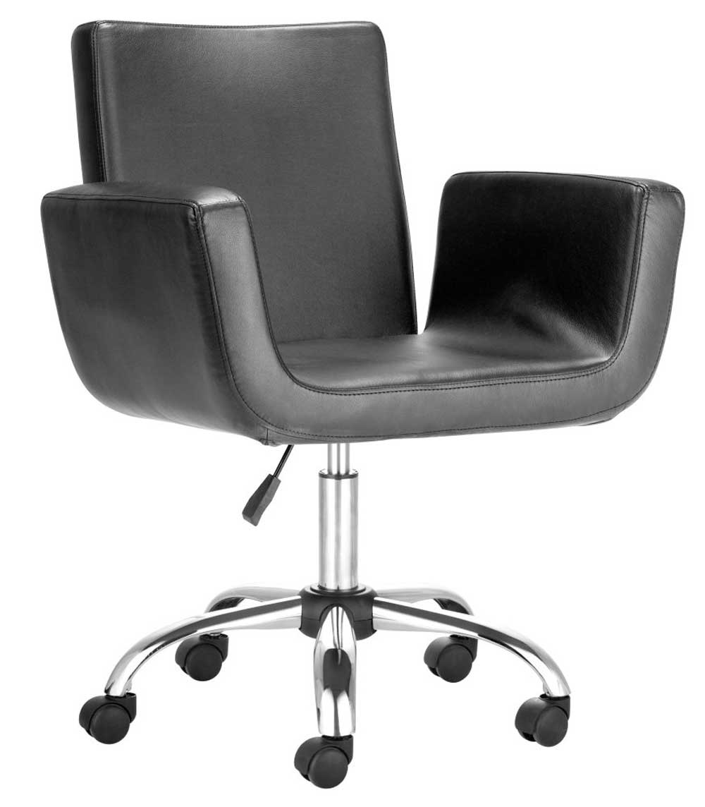 Leather executive chair with rolling and swivel base