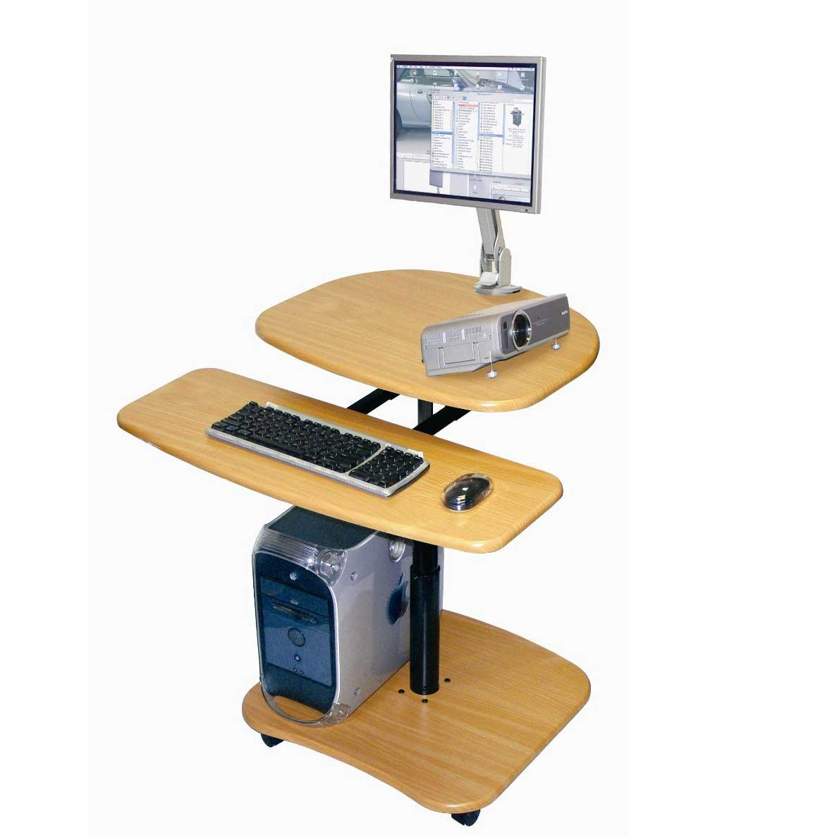 Luxor Adjustable Hydraulic MultiMedia Computer Workstation