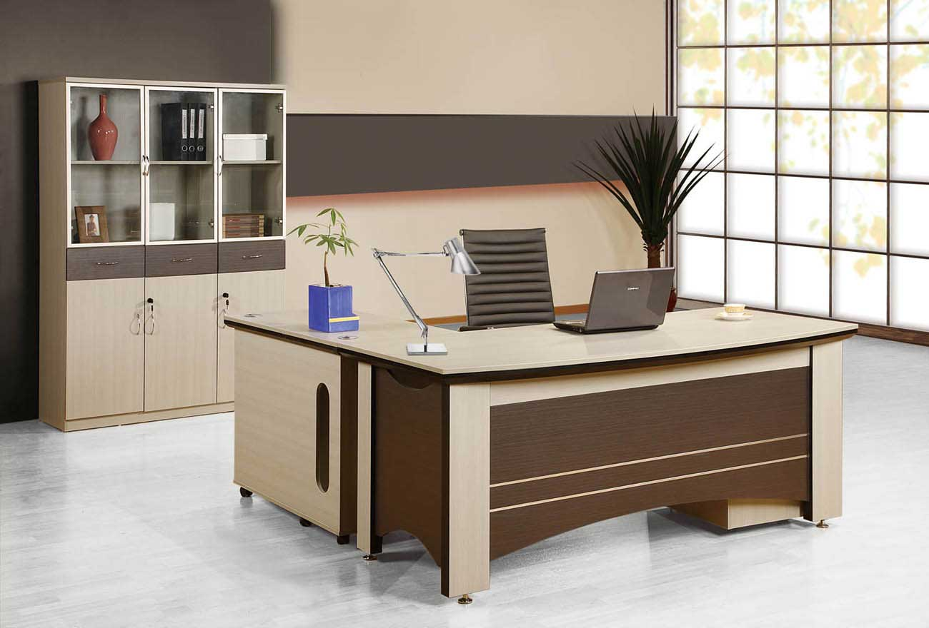 Luxury Brown Finish Home Office Laptop Desk
