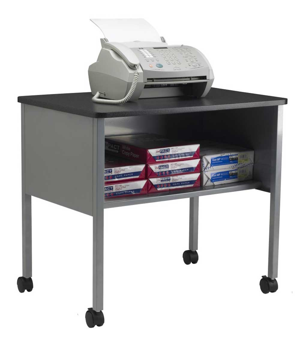 Mayline Office Furniture Gray Mobile Printer Machine Stand