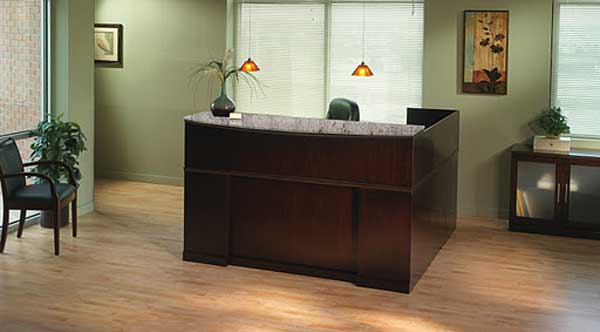 Mayline Sorrento Rception Office Executive Desks