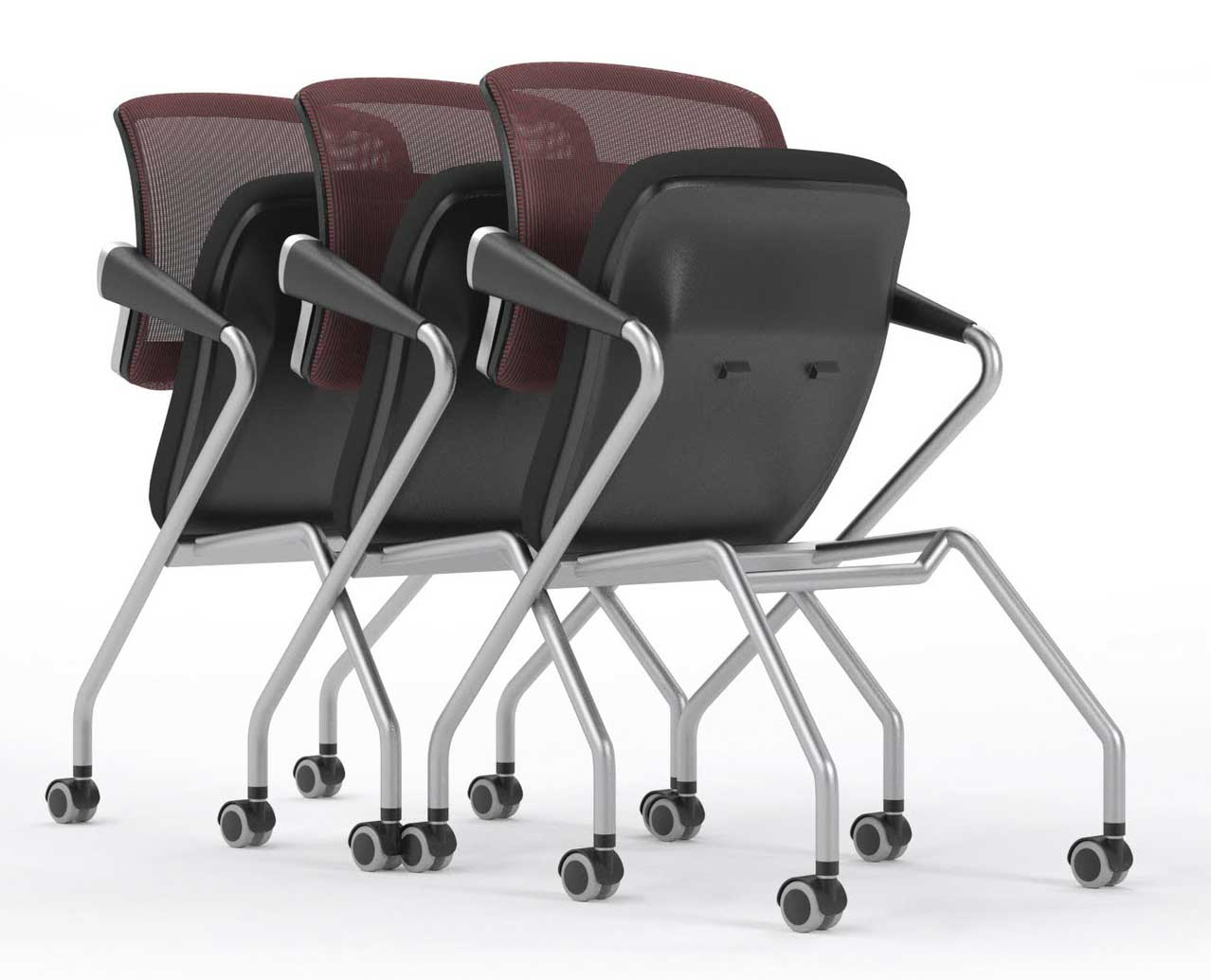 Mayline ergonomic mesh chairs collection set