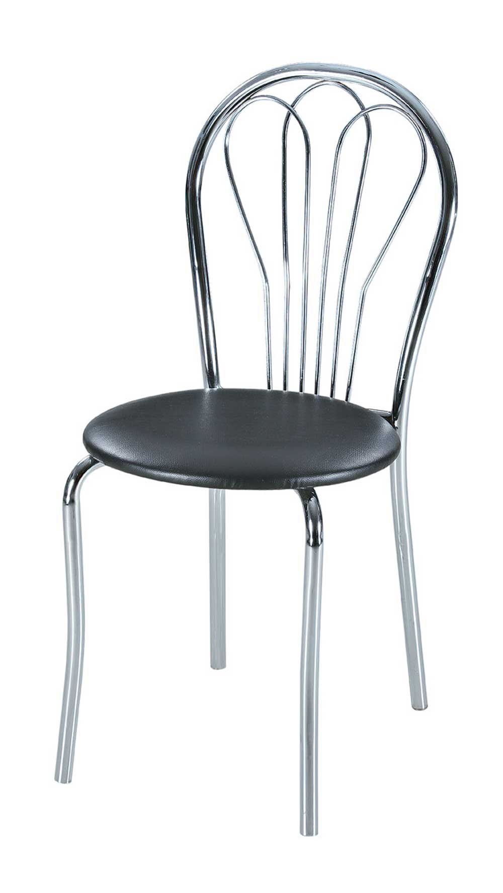Metal Stacking Chairs with Leather Seat