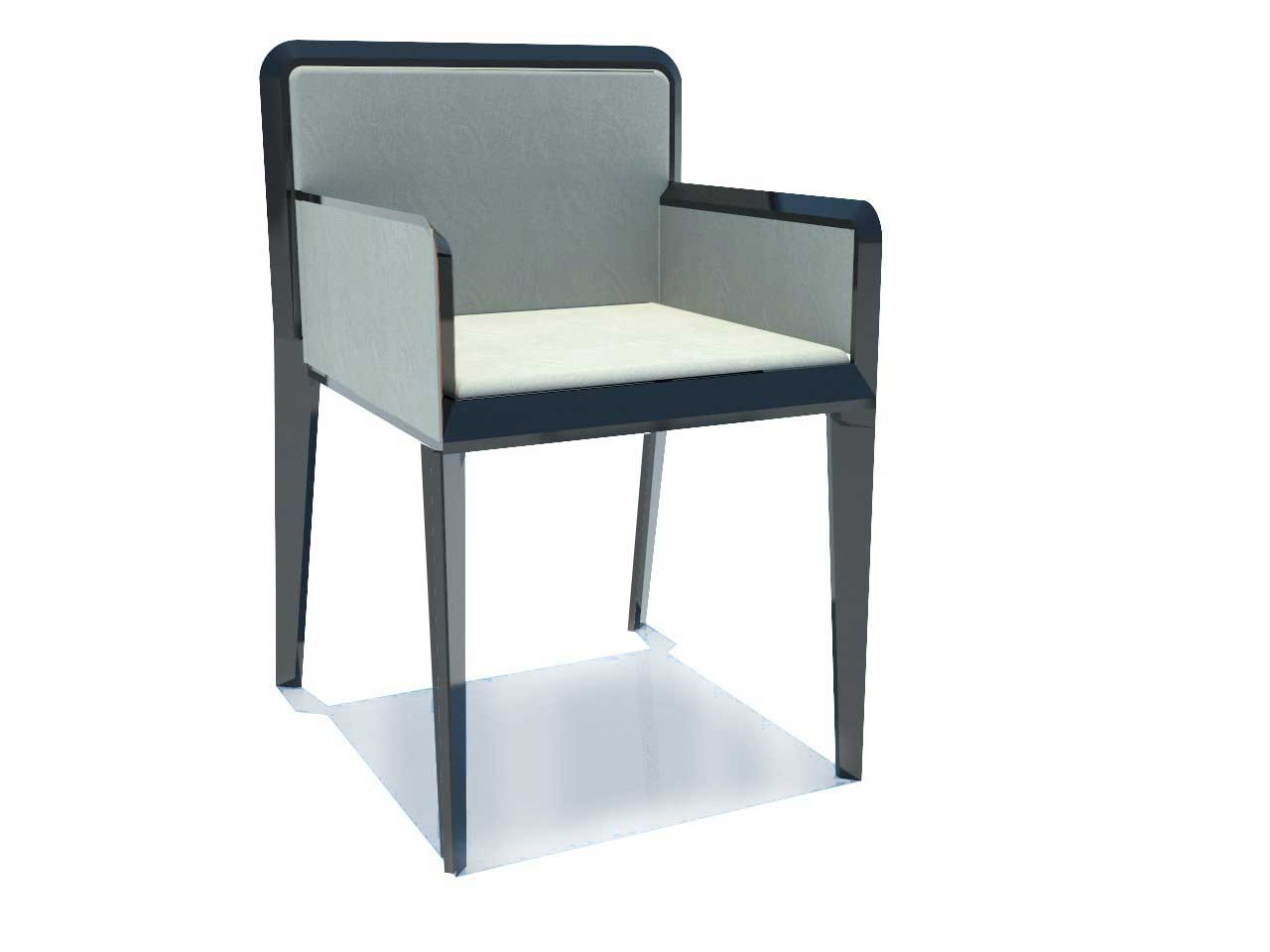 Modern Wooden Side Chair in Stacking Style