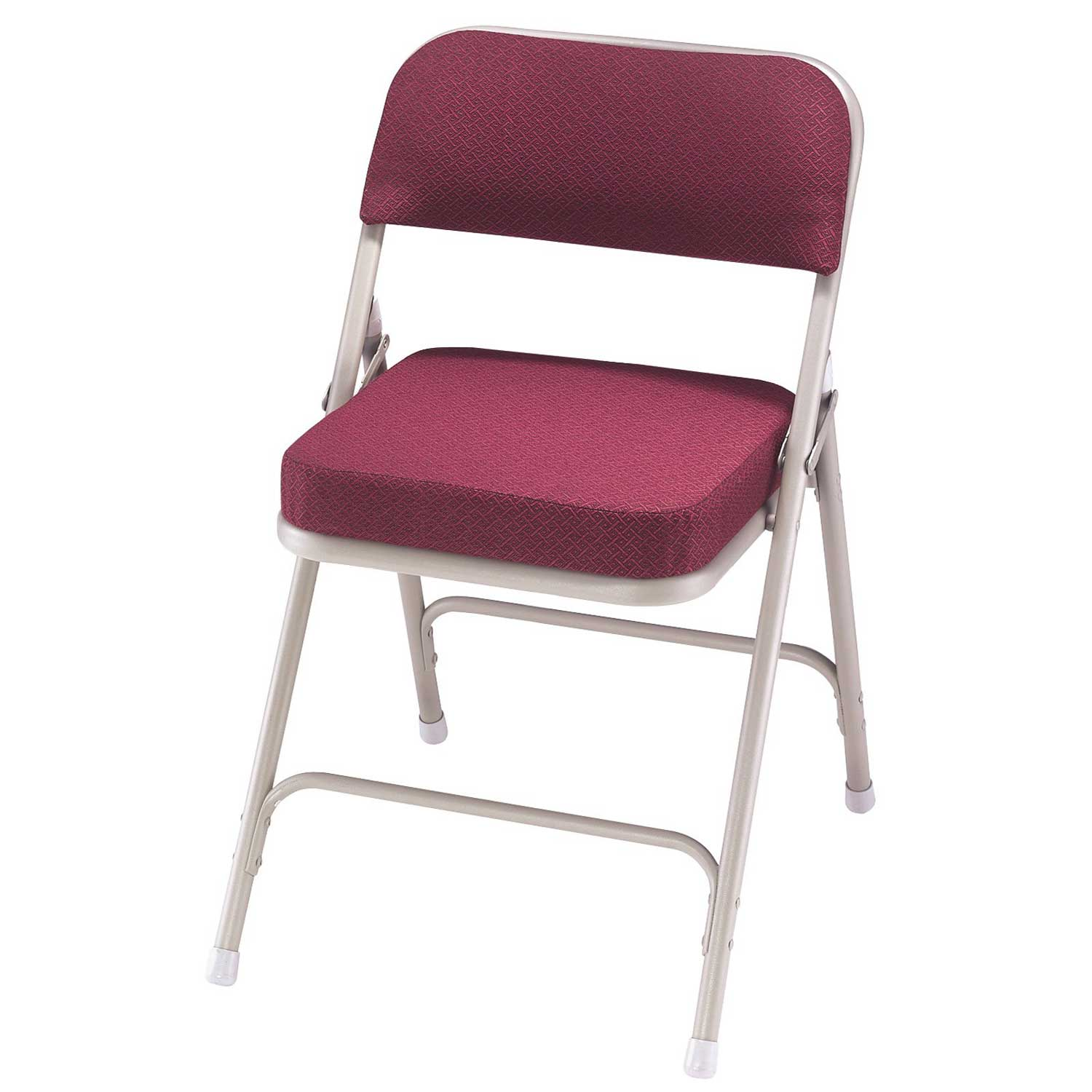 National Sleek Magenta Folding Padded Chairs