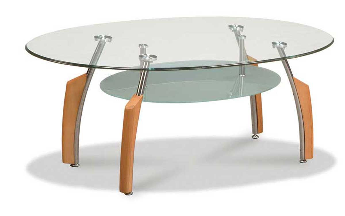 Natural Base Coffee Glass Desk Tops